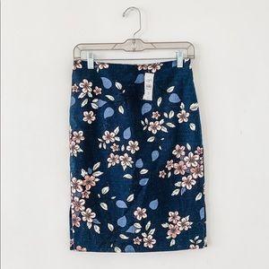 Floral LOFT Pencil Skirt